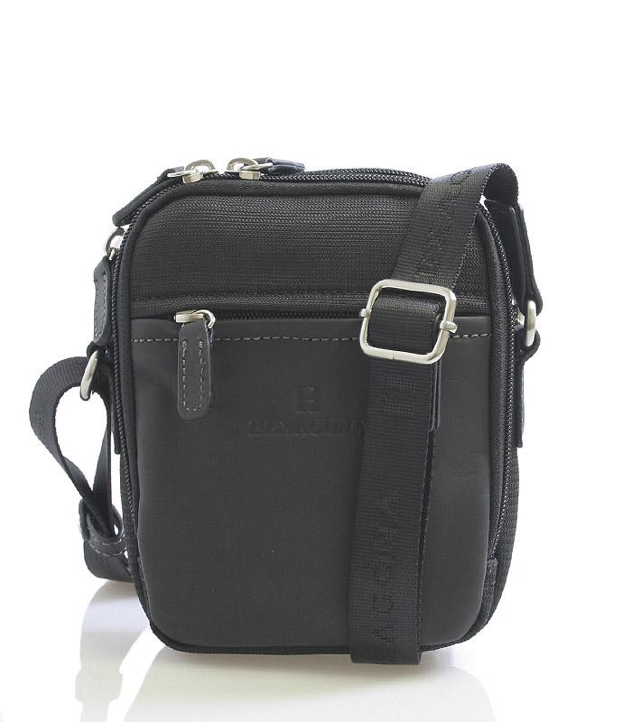 Čierna pánska taška cez plece Hexagona 291329