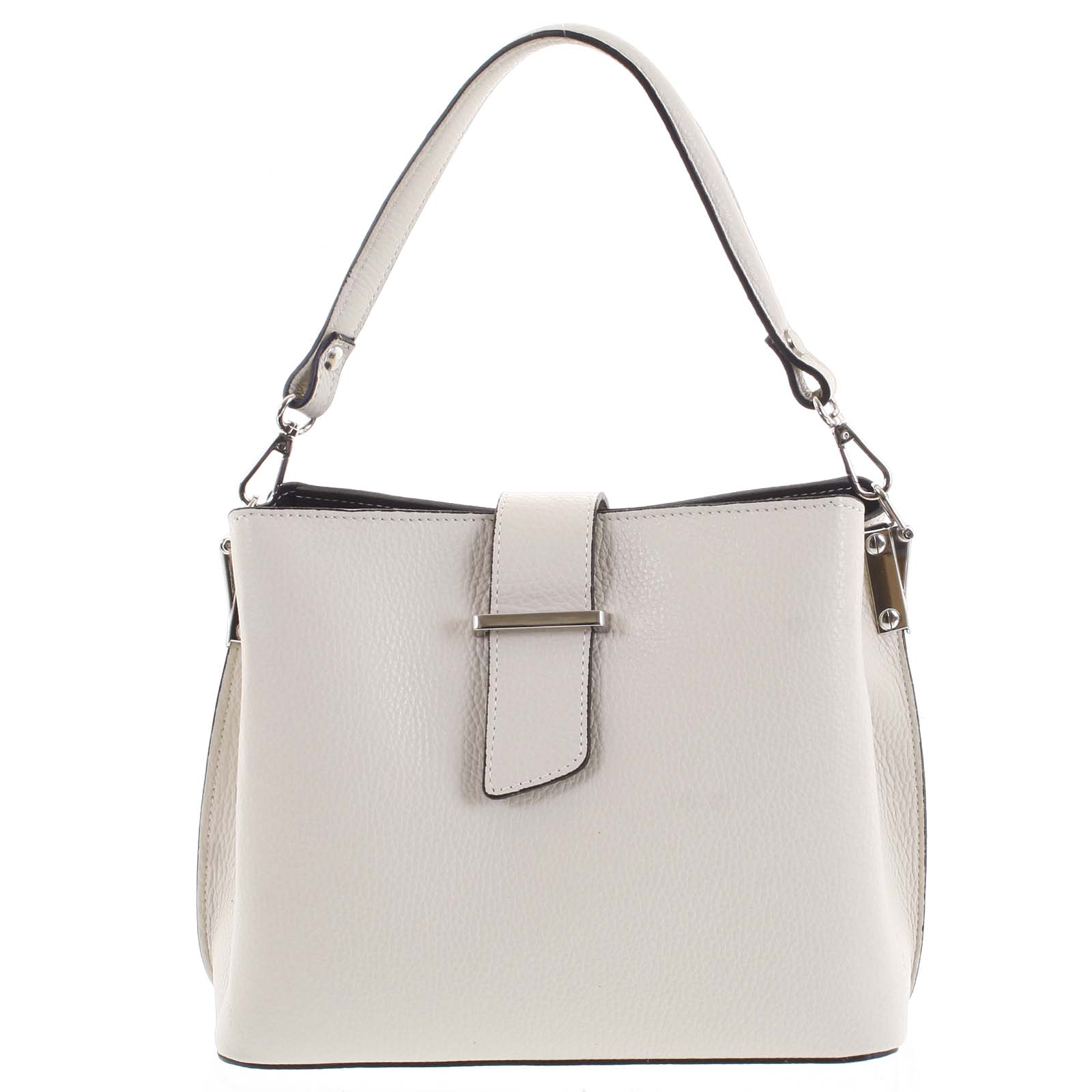 Dámska kožená kabelka do ruky béžová - ItalY Auren