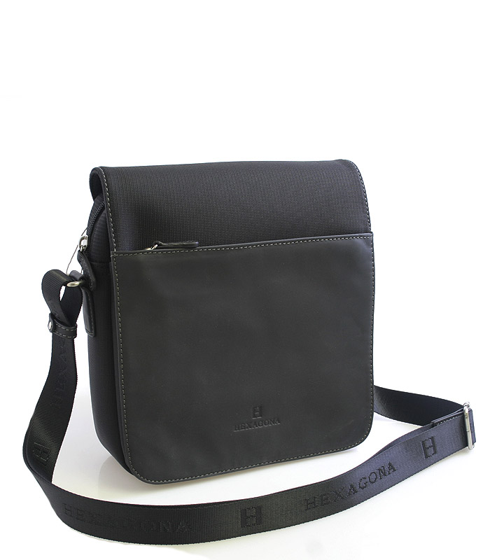 Čierna kožená taška Hexagona 292684