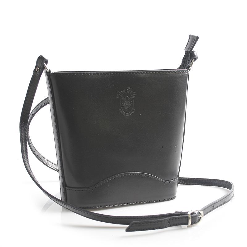Čierna kožená crossbody kabelka - ItalY Bryana