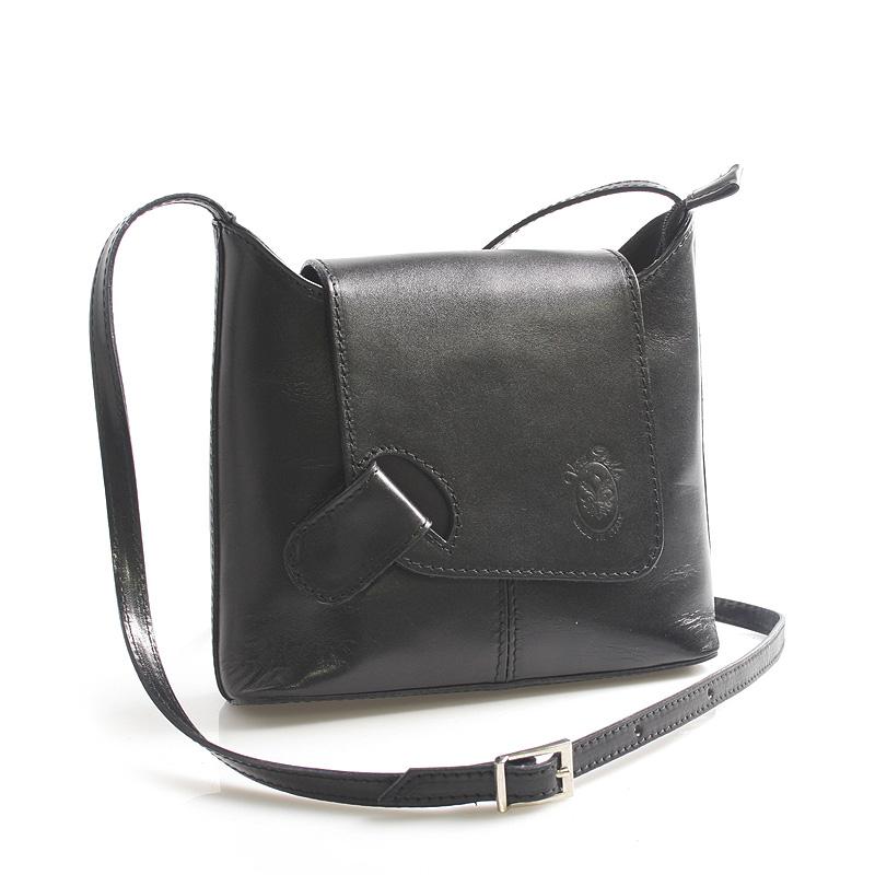 Dámska kožená crossbody kabelka čierna - ItalY Misty