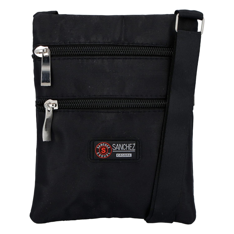 Textilné čierna unisex crossbody kapsička - Sanchez F85