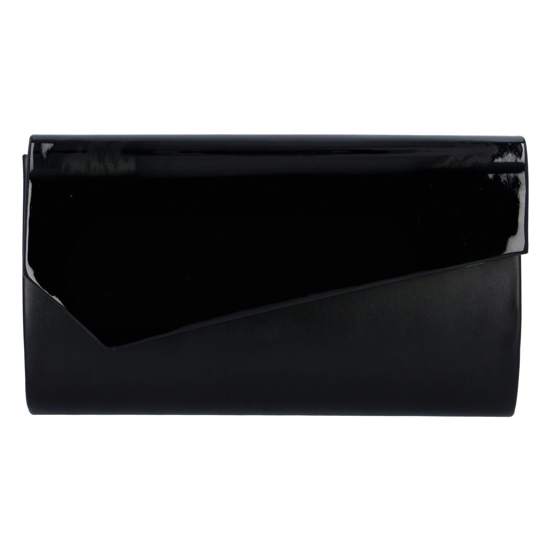 Veľká štýlová dámska listová kabelka čierna matná - Delami Charlien