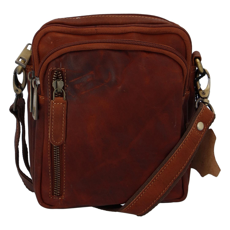 Prírodné koňaková pánska kožená taška na doklady - Tomas Svemir