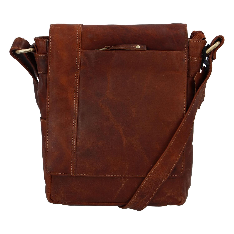 Koňaková kožená taška cez rameno Faraell