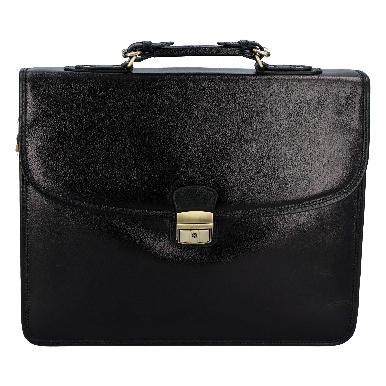 Luxusná pánska kožená aktovka čierna - Hexagona Ruperto
