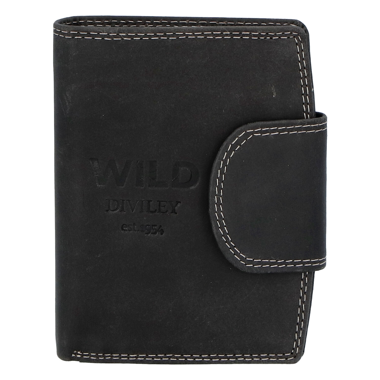 Pánska kožená peňaženka čierna - WILD Soul