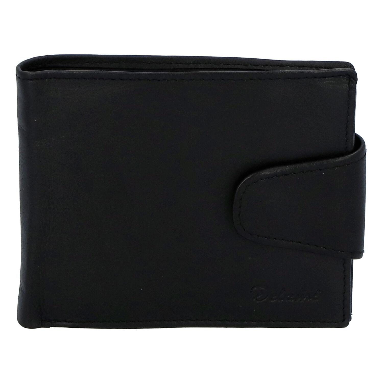 Pánska kožená peňaženka čierna - Delami 11816A