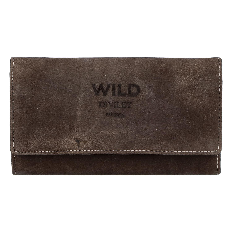 Dámska kožená peňaženka tmavohnedá - WILD Riga