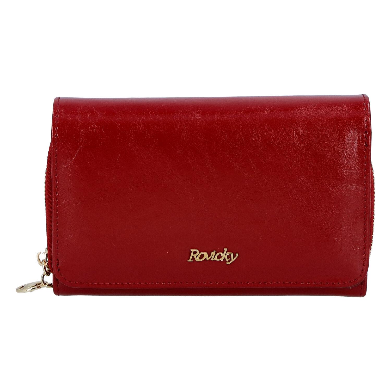 Dámska kožená peňaženka červená - Rovicky 8806
