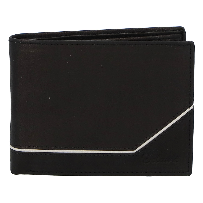 Pánska kožená peňaženka čierna - Delami Seum