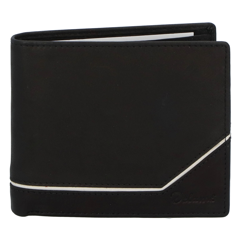Pánska kožená peňaženka čierna - Delami Tirasen