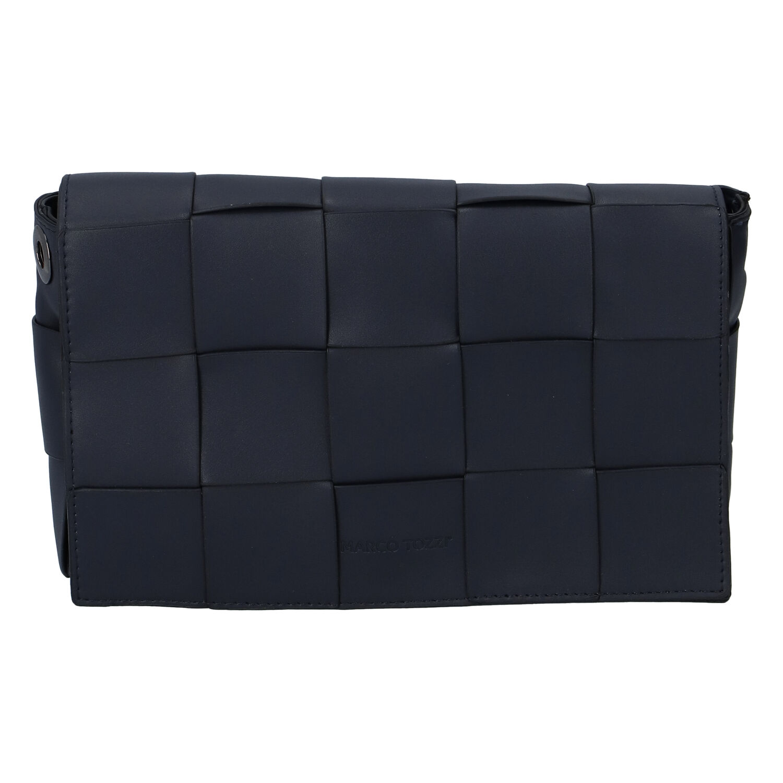Dámska módna listová kabelka tmavomodrá - Marco Tozzi Zina