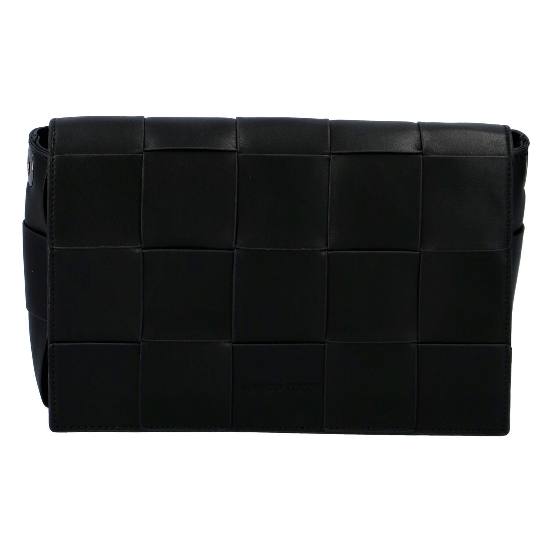 Dámska módna listová kabelka čierna - Marco Tozzi Zina