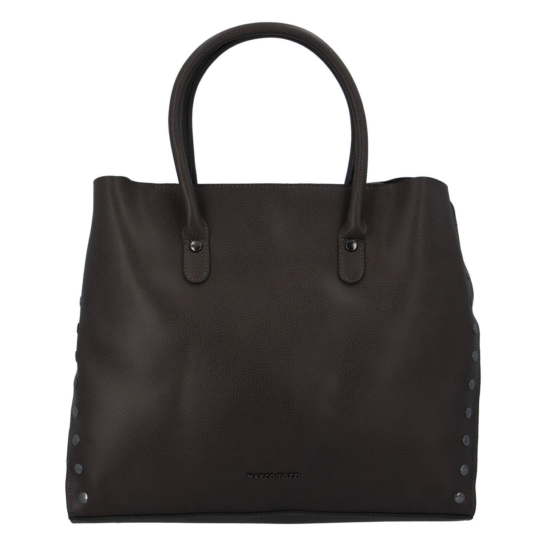 Dámska luxusná módna kabelka taupe - Marco Tozzi Diamond