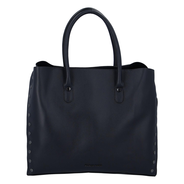 Dámska luxusná módna kabelka tmavomodrá - Marco Tozzi Diamond