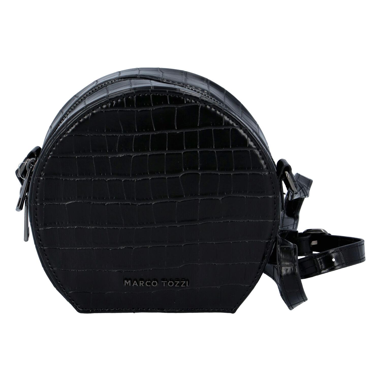 Módna štýlová crossbody kabelka čierna kroko - Marco Tozzi Kroko