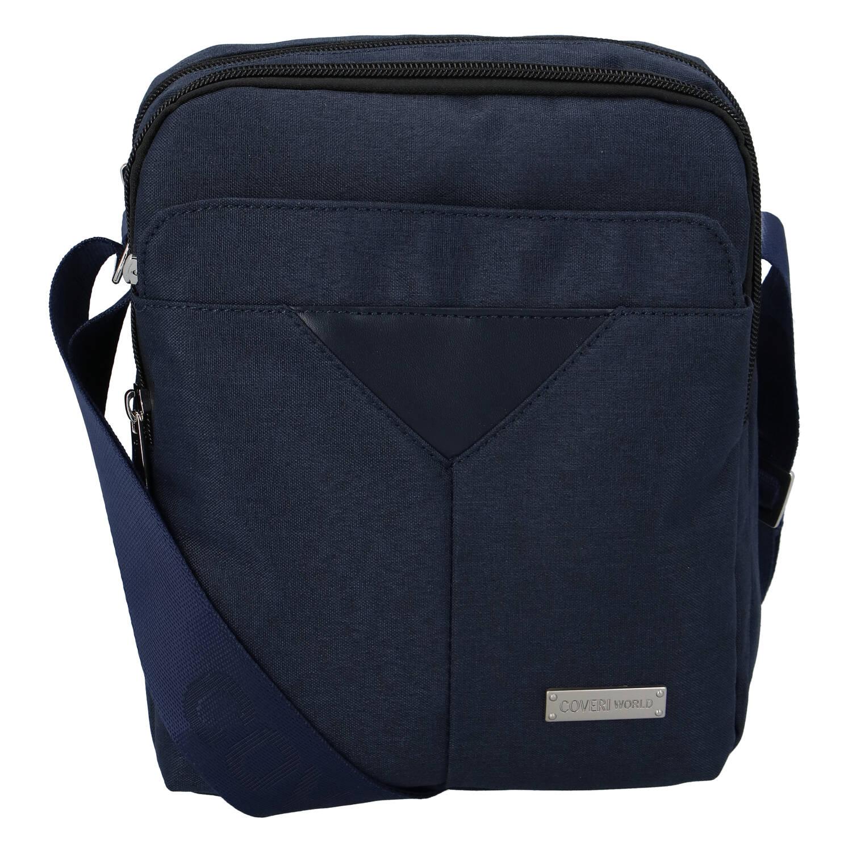 Moderná pánska taška na doklady tmavomodrá - Coveri Christopher