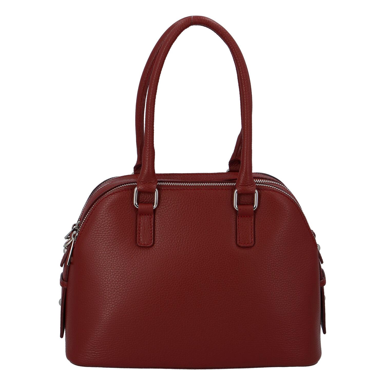Módna dámska kožená kabelka červená - ItalY Salva