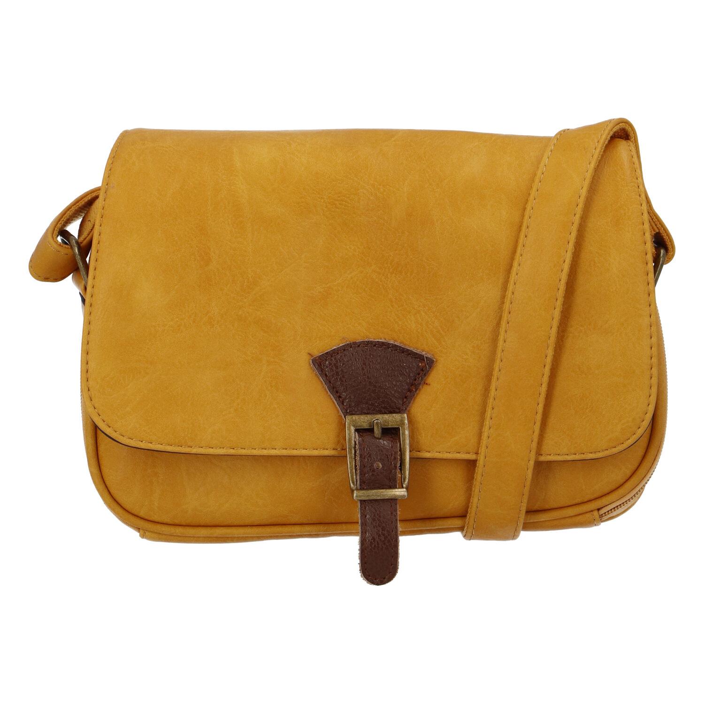 Dámska crossbody kabelka žltá - Paolo Bags Irma
