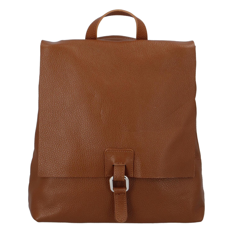 Dámsky kožený batôžtek kabelka hnedý - ItalY Francesco