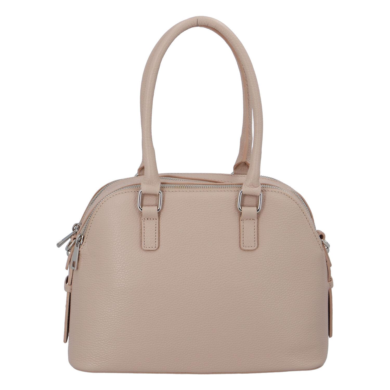 Módna dámska kožená kabelka ružová - ItalY Salva
