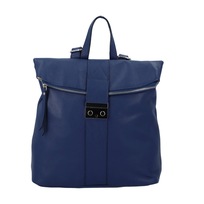 Dámsky kožený batôžtek modrý - ItalY Ahmed