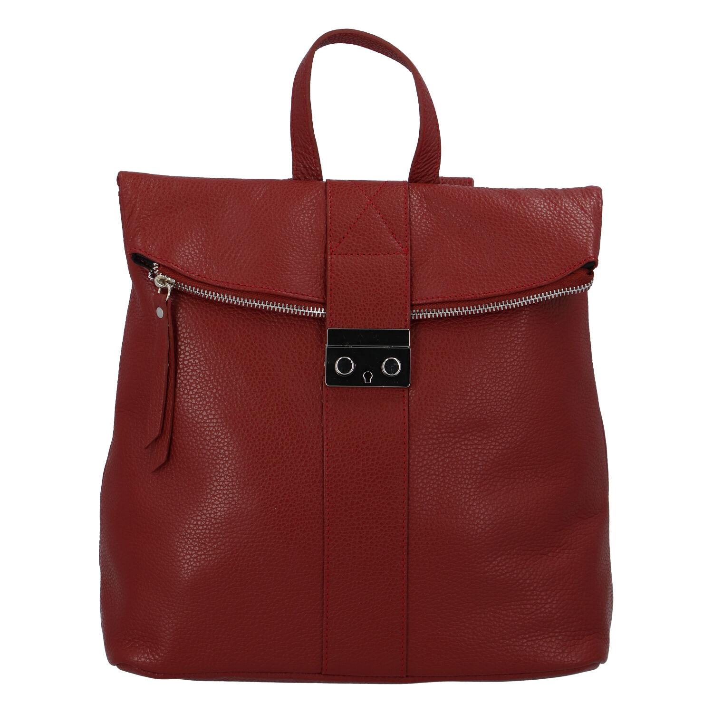 Dámsky kožený batôžtek červený - ItalY Ahmed