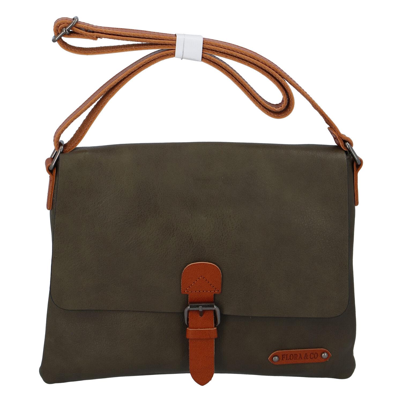 Dámska crossbody kabelka khaki - FLORA & CO Jacuza