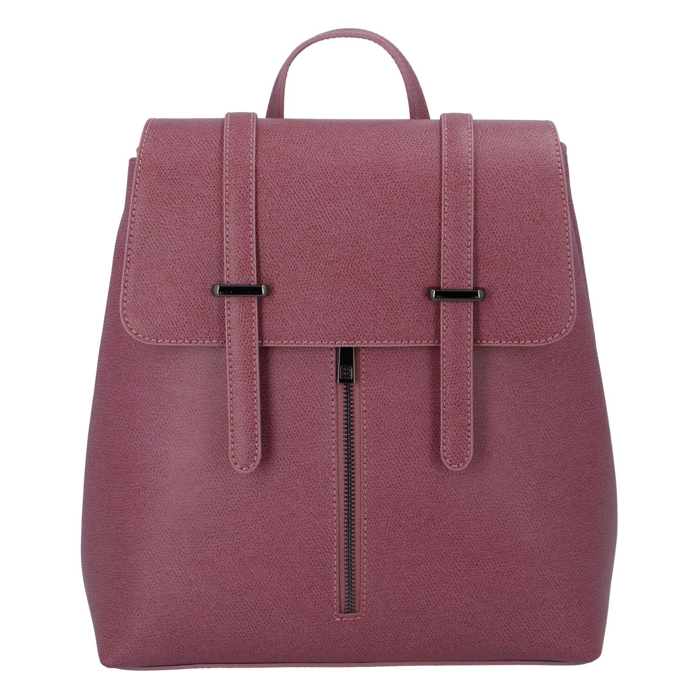 Dámsky kožený batoh fialovo ružový - ItalY Waterfall
