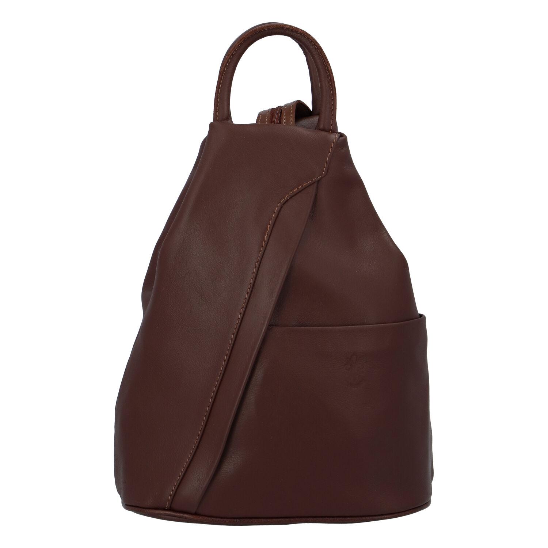 Dámsky kožený batôžtek hnedý - ItalY Iris