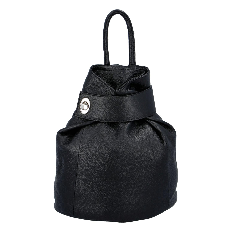 Dámsky kožený batôžtek čierny - ItalY Vazky