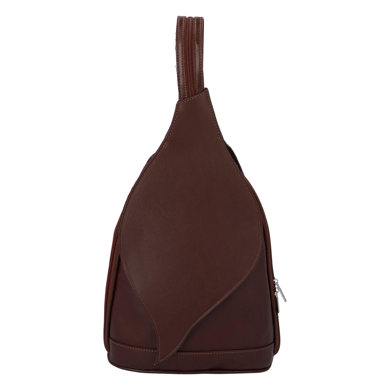 Dámsky kožený batôžtek hnedý - ItalY Strap