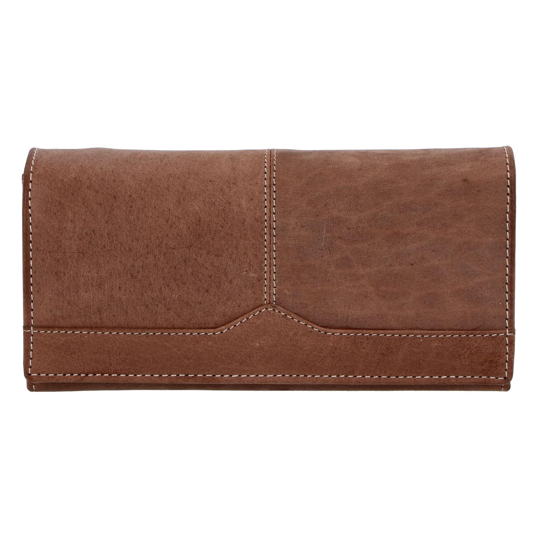 Dámska kožená peňaženka hnedá brúsená - Tomas Slat