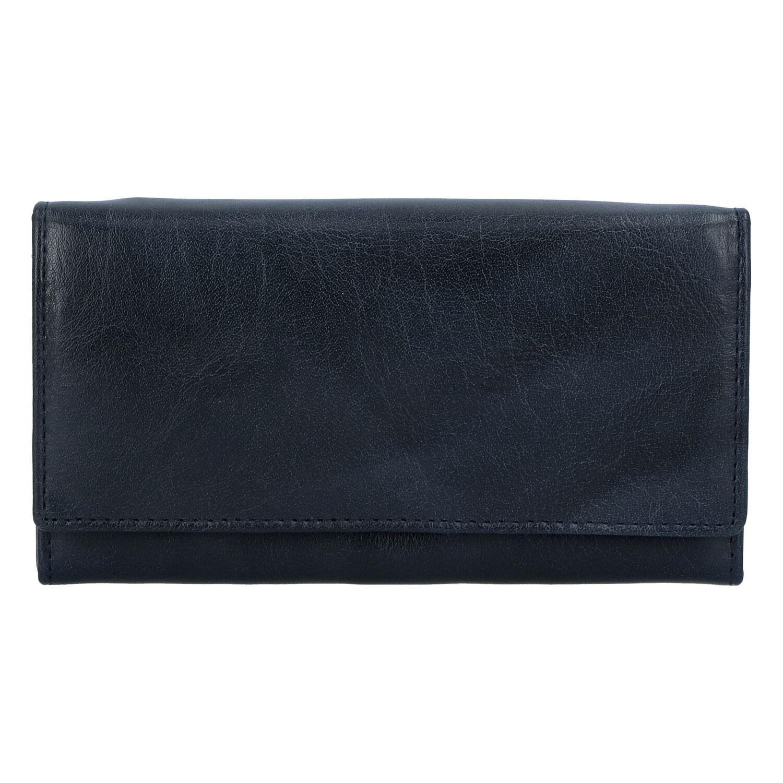 Dámska kožená peňaženka tmavomodrá - Tomas Kalasia