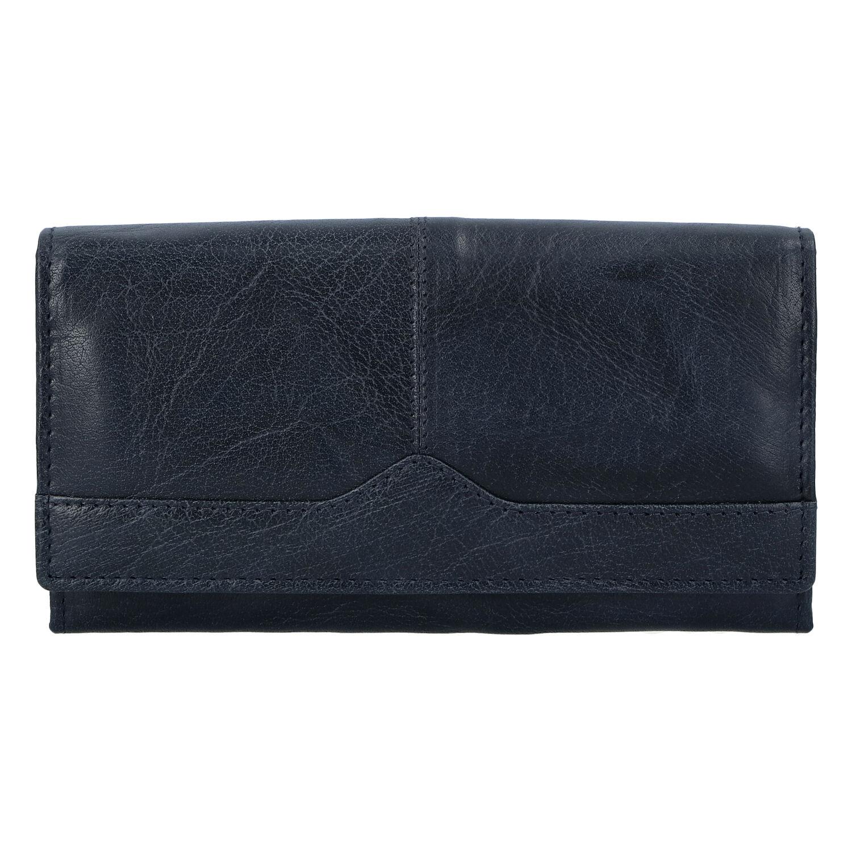 Dámska kožená peňaženka tmavomodrá - Tomas Slat