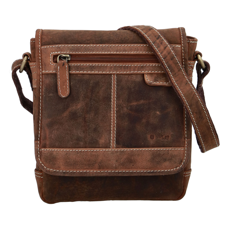 Pánska kožená taška brúsená camel - Diviley Bowery