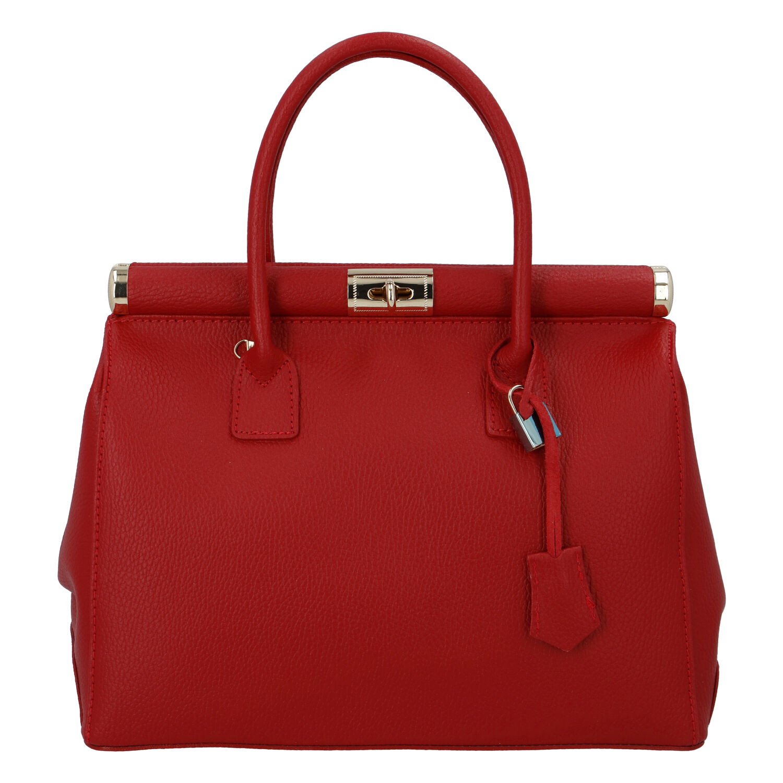 Módna originálny dámska kožená kabelka do ruky červená - ItalY Hila