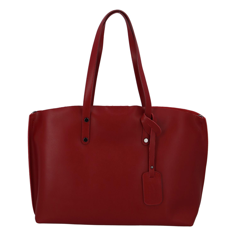 Dámska kožená kabelka tmavo červena - ItalY Jordana Two