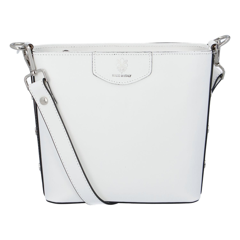 Dámska kožená kabelka biela - ItalY Koloseum