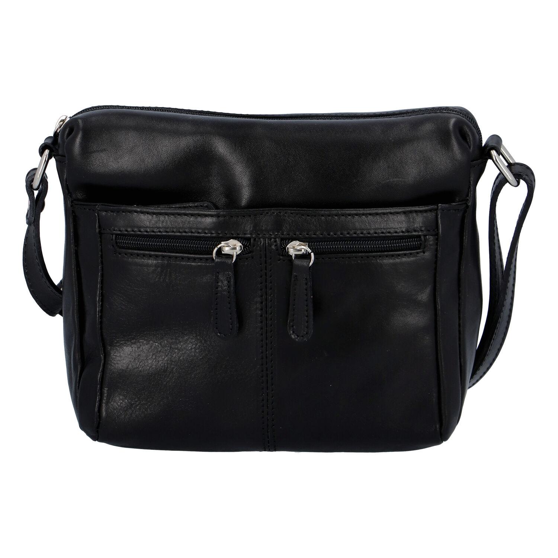 Dámska kožená crossbody kabelka čierna - ItalY ItOff