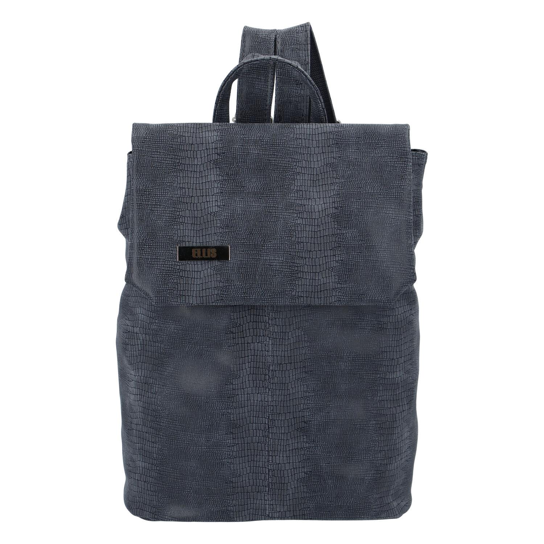Väčšia mäkký dámsky moderný modro šedý batoh - Ellis Elizabeth