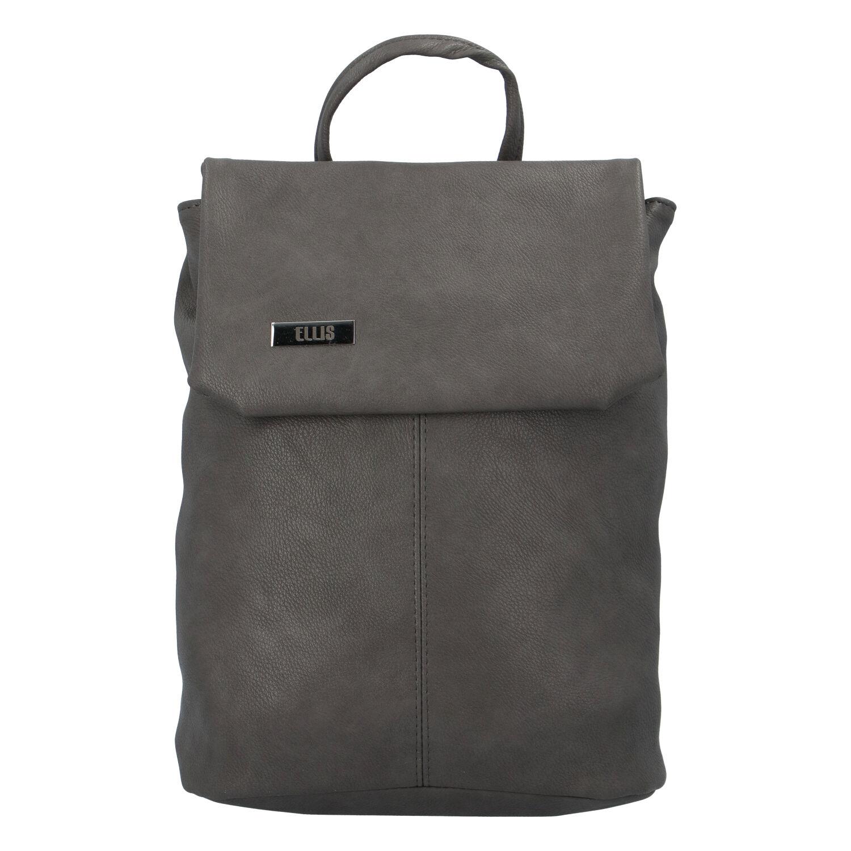 Väčšia mäkký dámsky moderný tmavosivý batoh - Ellis Elizabeth JR
