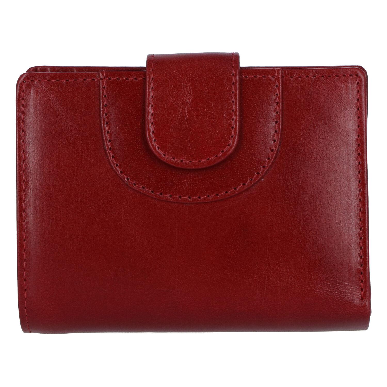 Elegantná kožená peňaženka tmavočervená - Tomas Pilia