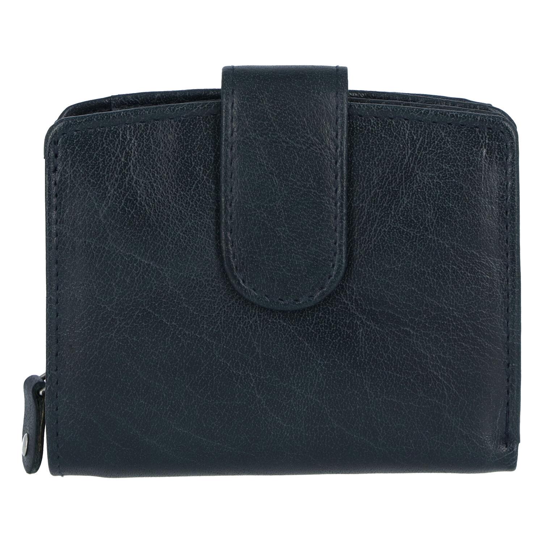 Dámska kožená peňaženka tmavomodrá - Tomas Coulenzy