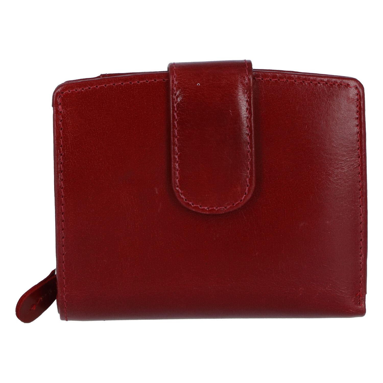 Dámska kožená peňaženka tmavočervená - Tomas Coulenzy