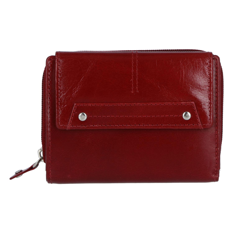 Dámska kožená peňaženka tmavočervená - Tomas Oraigy