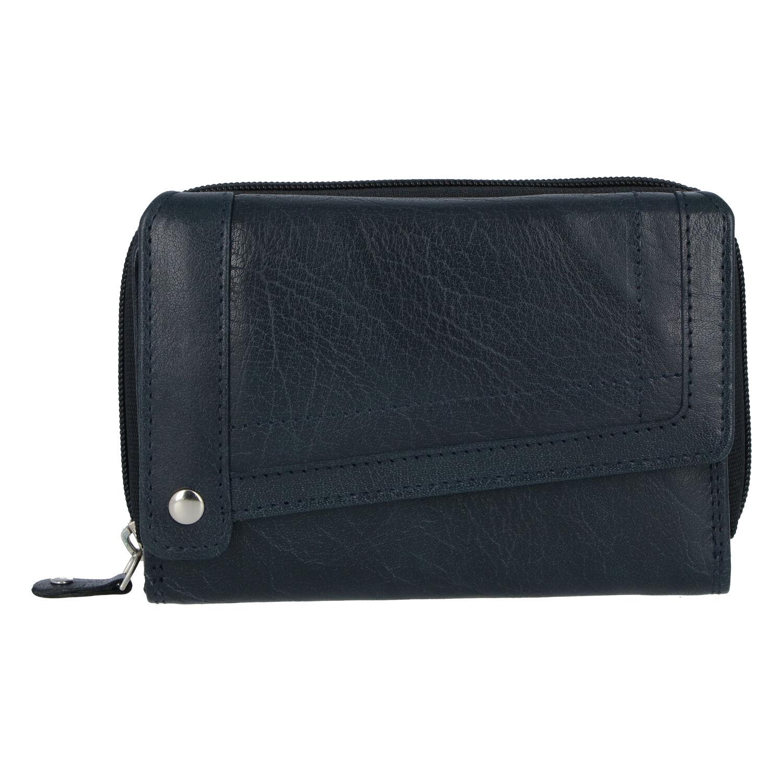Dámska kožená peňaženka tmavomodrá - Tomas Feisol