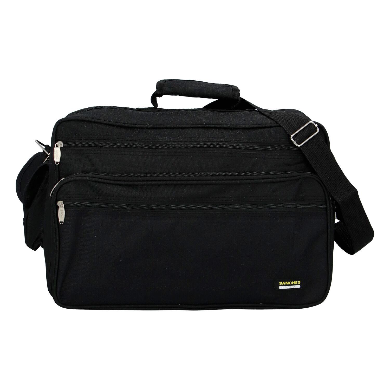 Pánska látková taška cez plece čierna - Sanchez Gurak