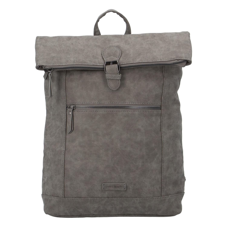 Štýlový veľký batoh sivý - Enrico Benetti Amsterodam